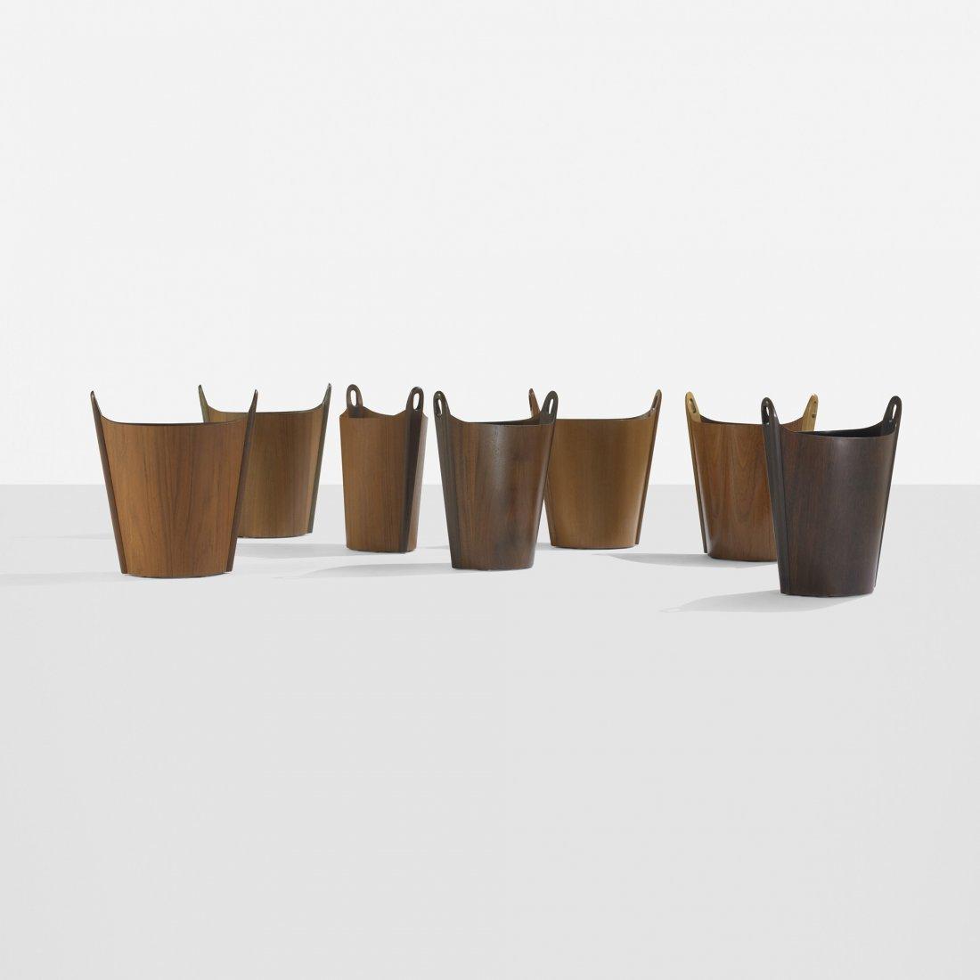 103: P.S. Heggen wastepaper baskets, set of seven