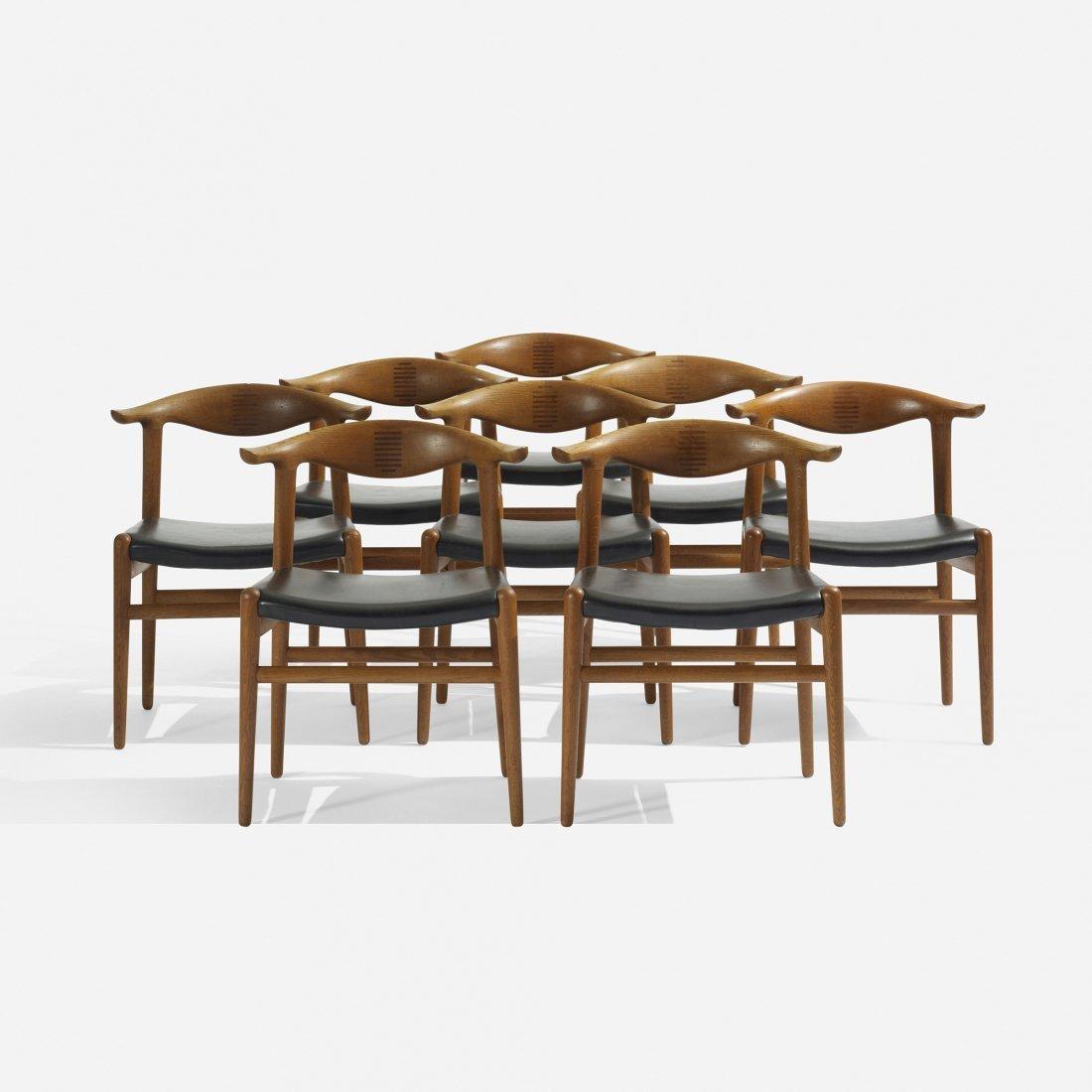 111: Hans Wegner Cow Horn chairs, set of eight