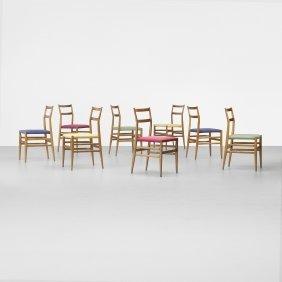 Gio Ponti Leggera Chairs, Set Of Eight