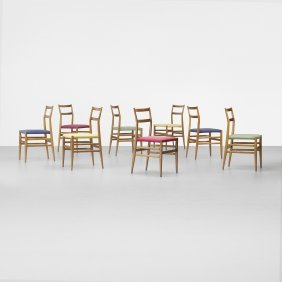 100: Gio Ponti Leggera chairs, set of eight