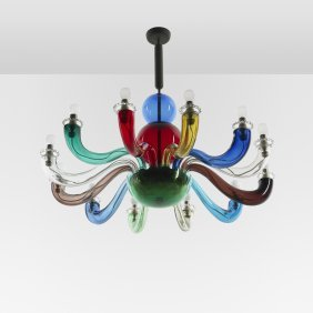 116: Gio Ponti Important and early chandelier