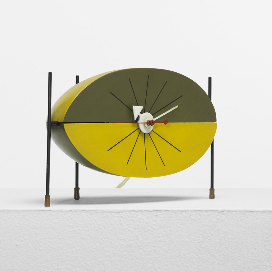 201: George Nelson & Associates Watermelon table clock