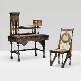272: Carlo Bugatti Mosquée desk and chair