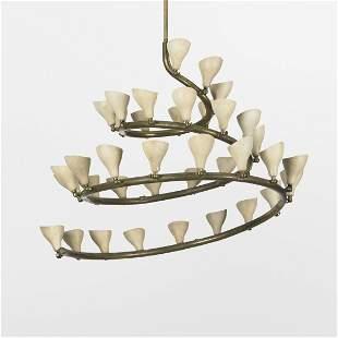 387: Gino Sarfatti chandelier, model 2040