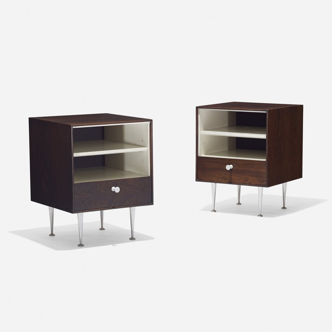 Nelson & Associates Thin Edge nightstands, pair