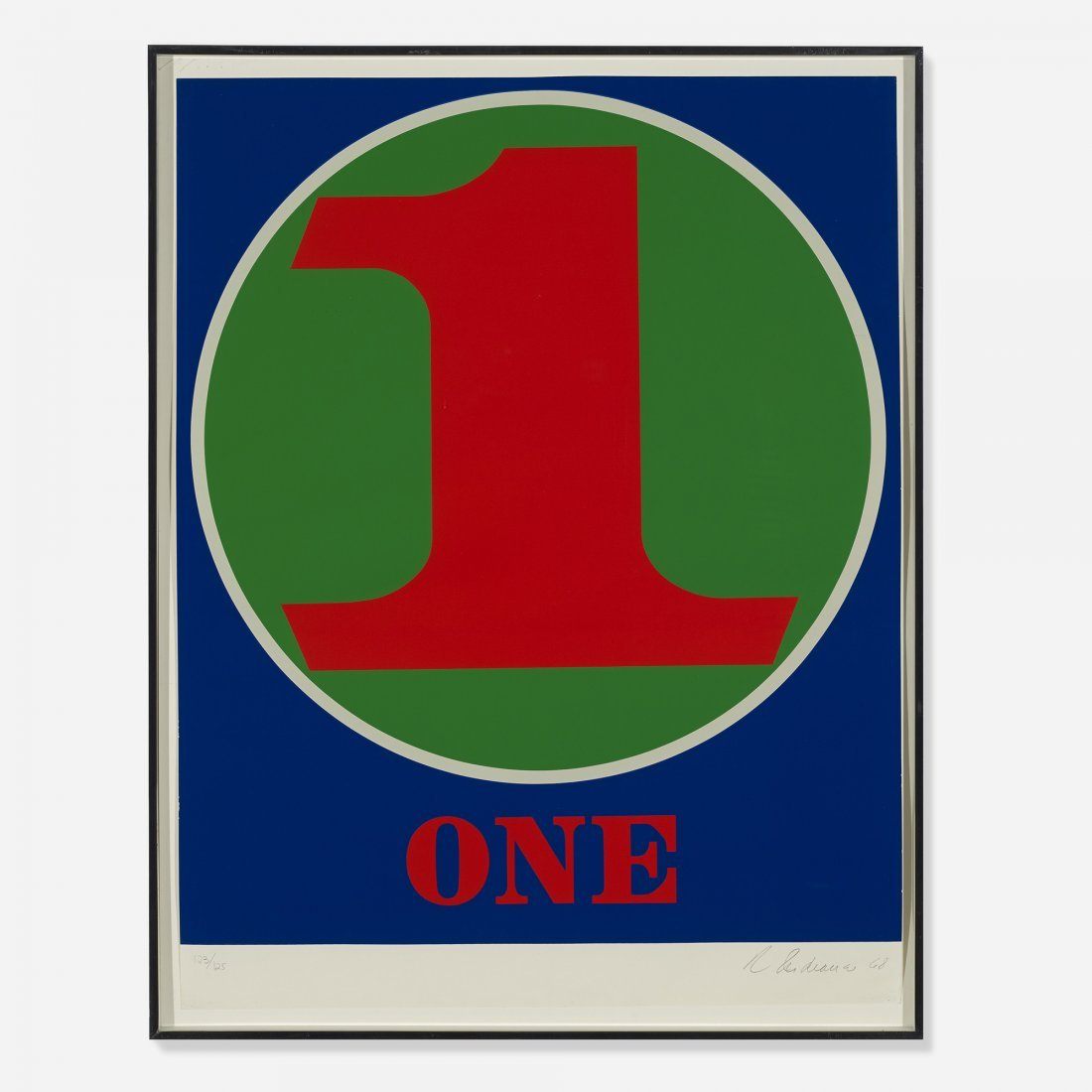 Robert Indiana One (from Numbers)