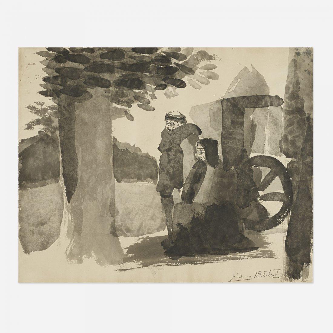 Pablo Picasso Homme et Vieille Femme V