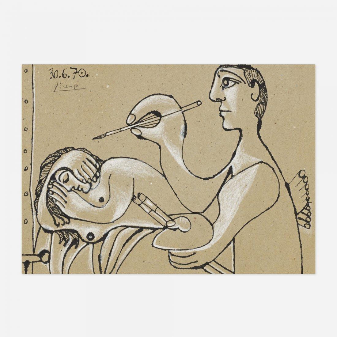 Pablo Picasso Le Peintre et Son Modèle I