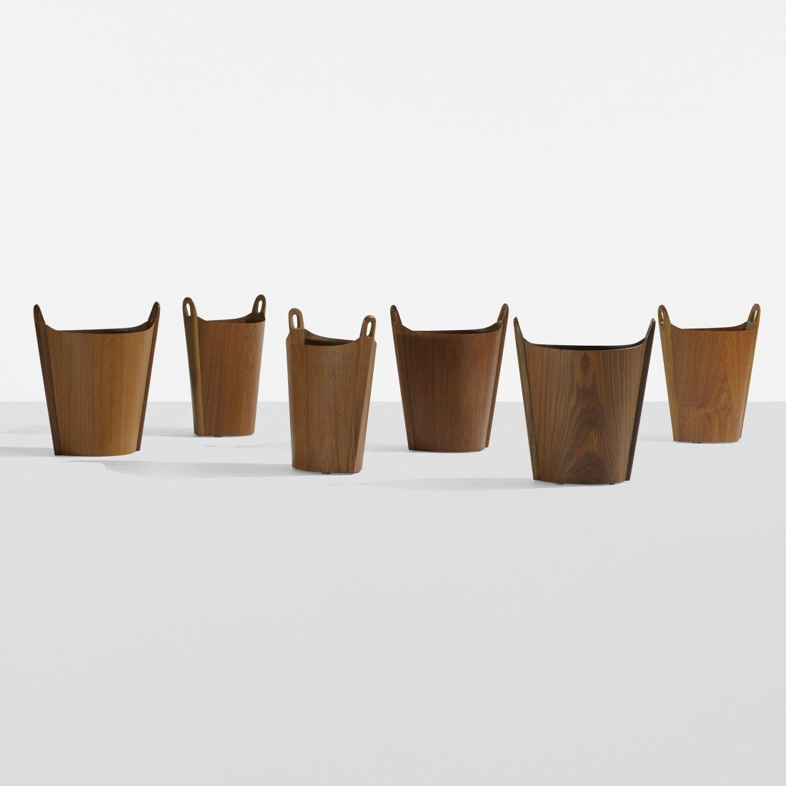 P.S. Heggen wastepaper baskets, set of six