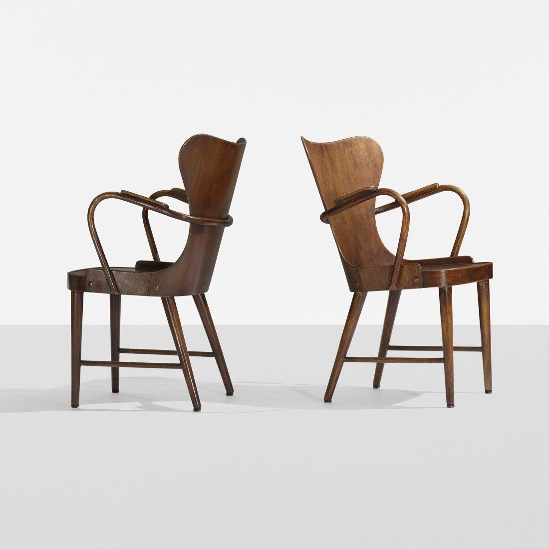 Søren Hansen armchairs, pair
