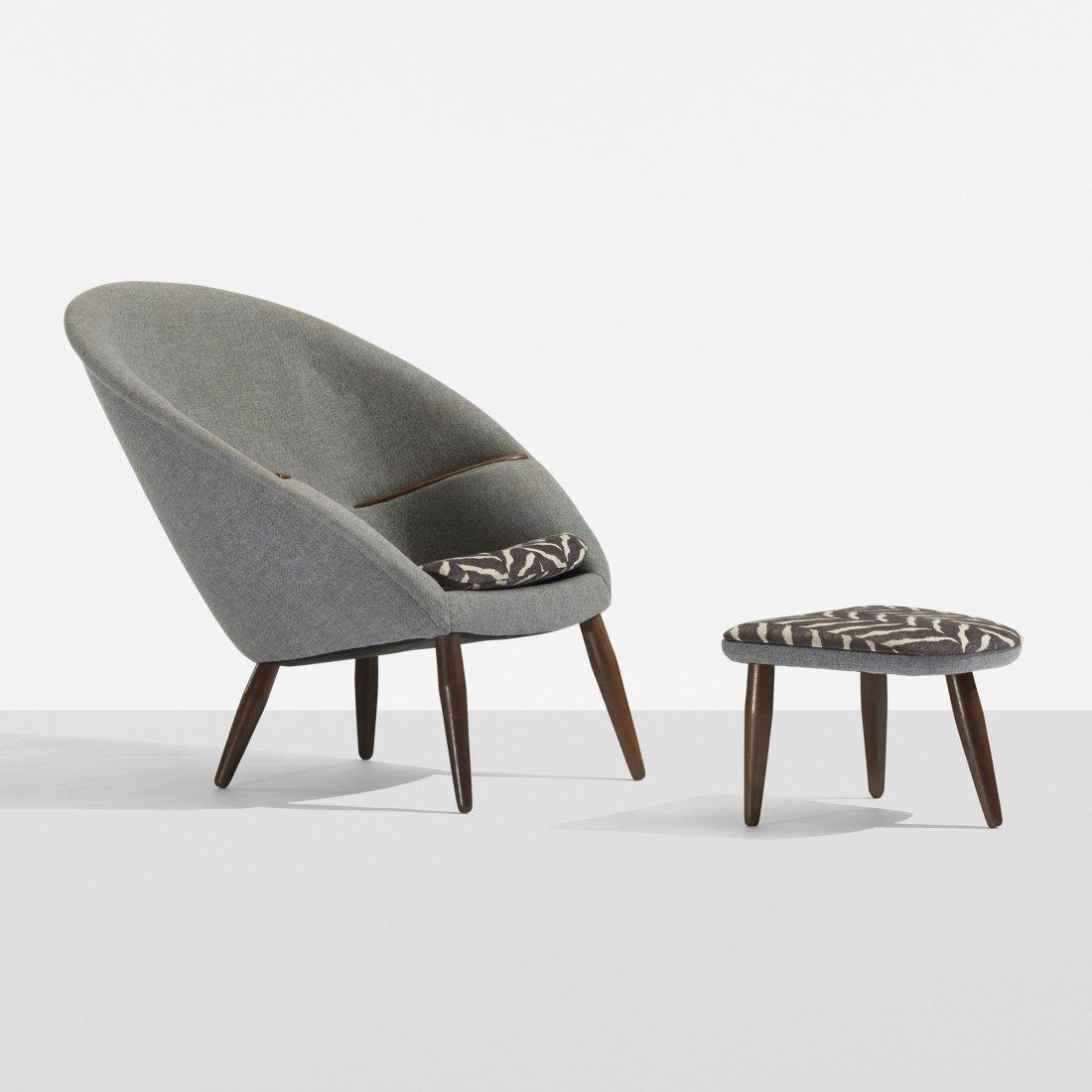 Nanna and Jørgen Ditzel lounge chair and ottoman