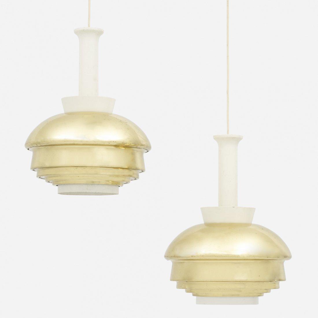 Alvar Aalto pendant lamps model A 335, pair