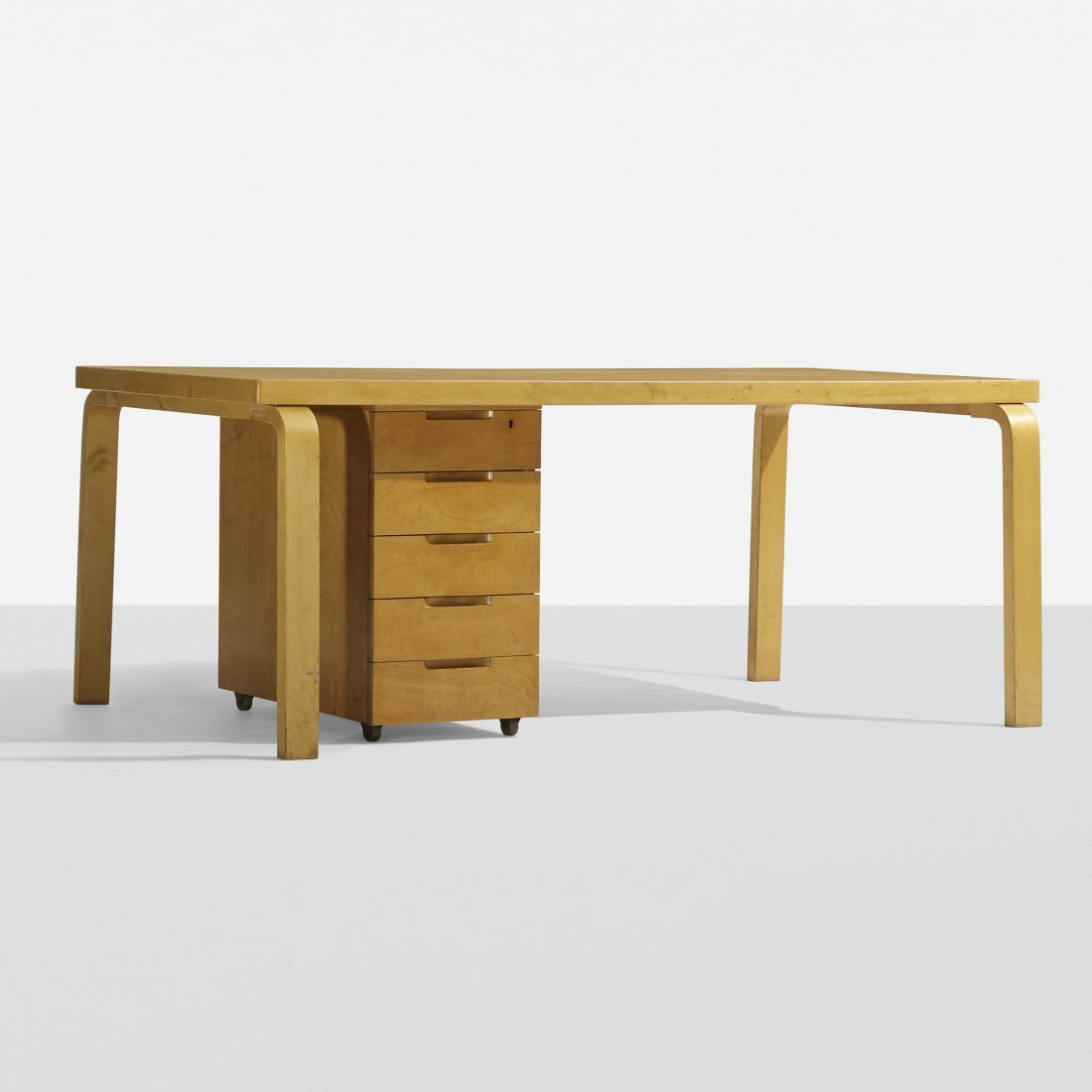 Alvar Aalto L-leg desk with return