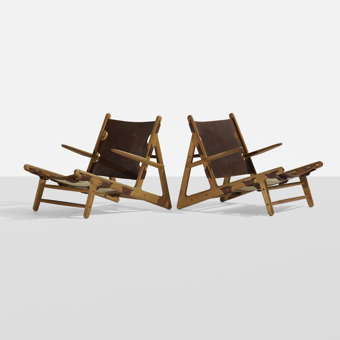 Børge Mogensen Hunting chairs, pair