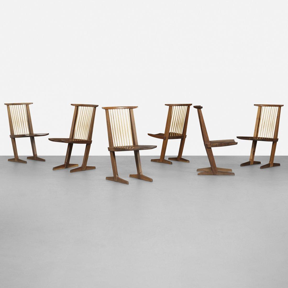 George Nakashima Conoid dining chairs, set of six