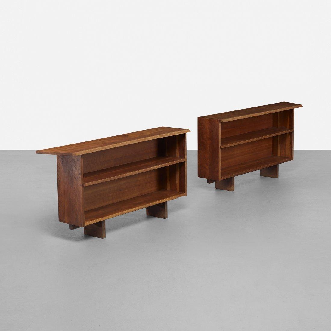 George Nakashima custom bookcases, pair