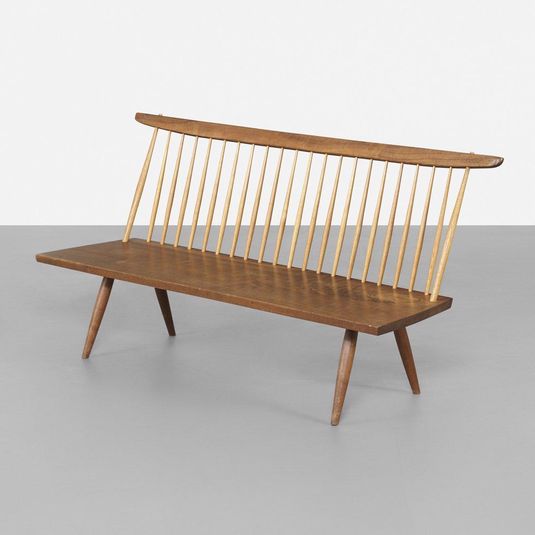 George Nakashima bench with back