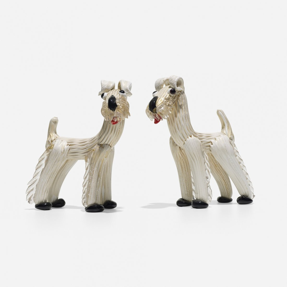 Ercole Barovier dogs, pair