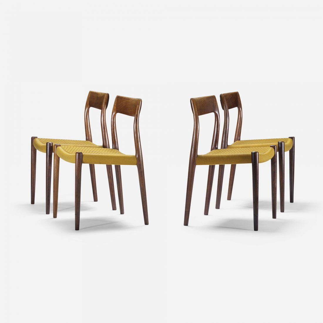 Niels O. Møller dining chairs, set of four