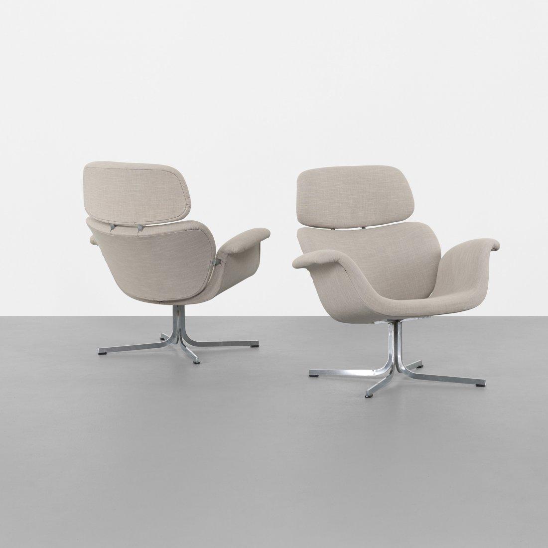 Pierre Paulin Tulip lounge chairs, pair