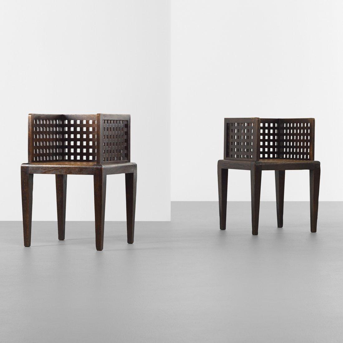 Francis Jourdain, attribution armchairs, pair
