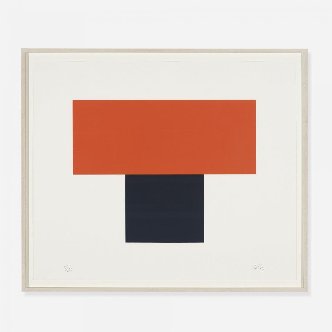 Ellsworth Kelly Red-Orange over Black