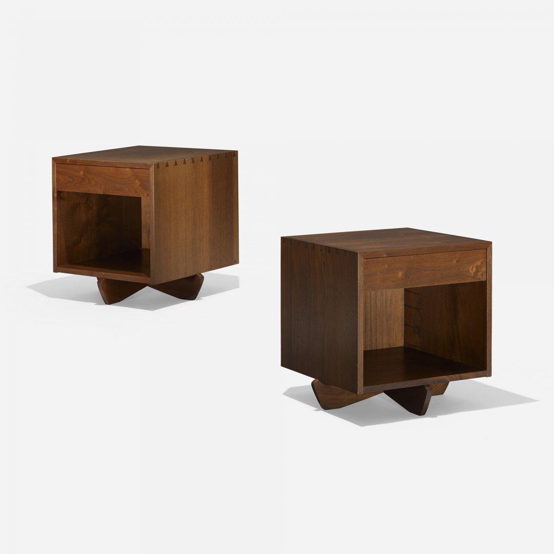 George Nakashima Swett nightstands, pair