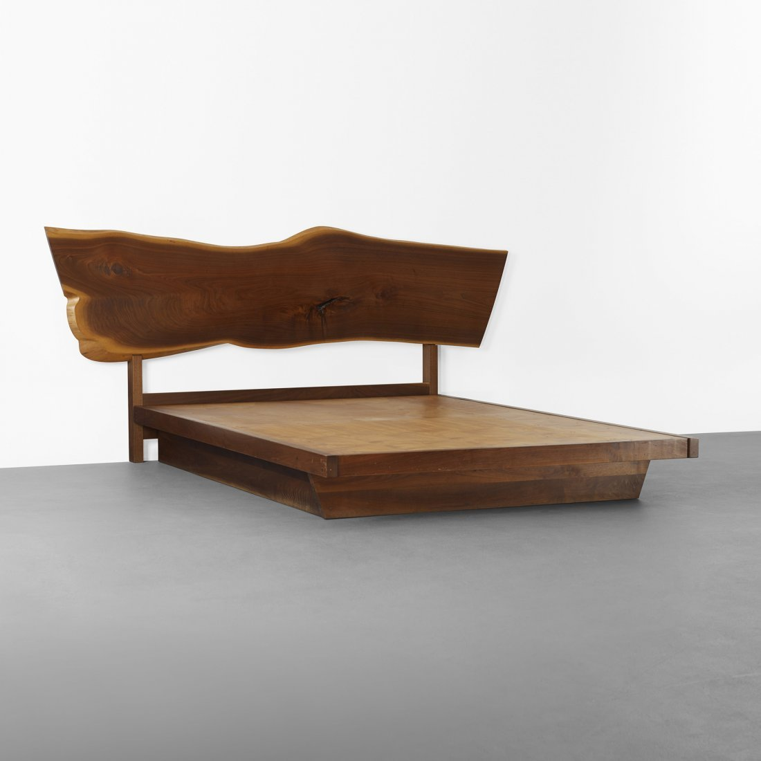 George Nakashima Plank headboard and platform bed