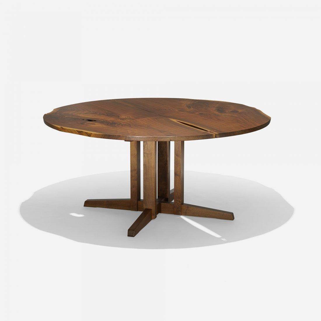nakashima round cluster based dining table