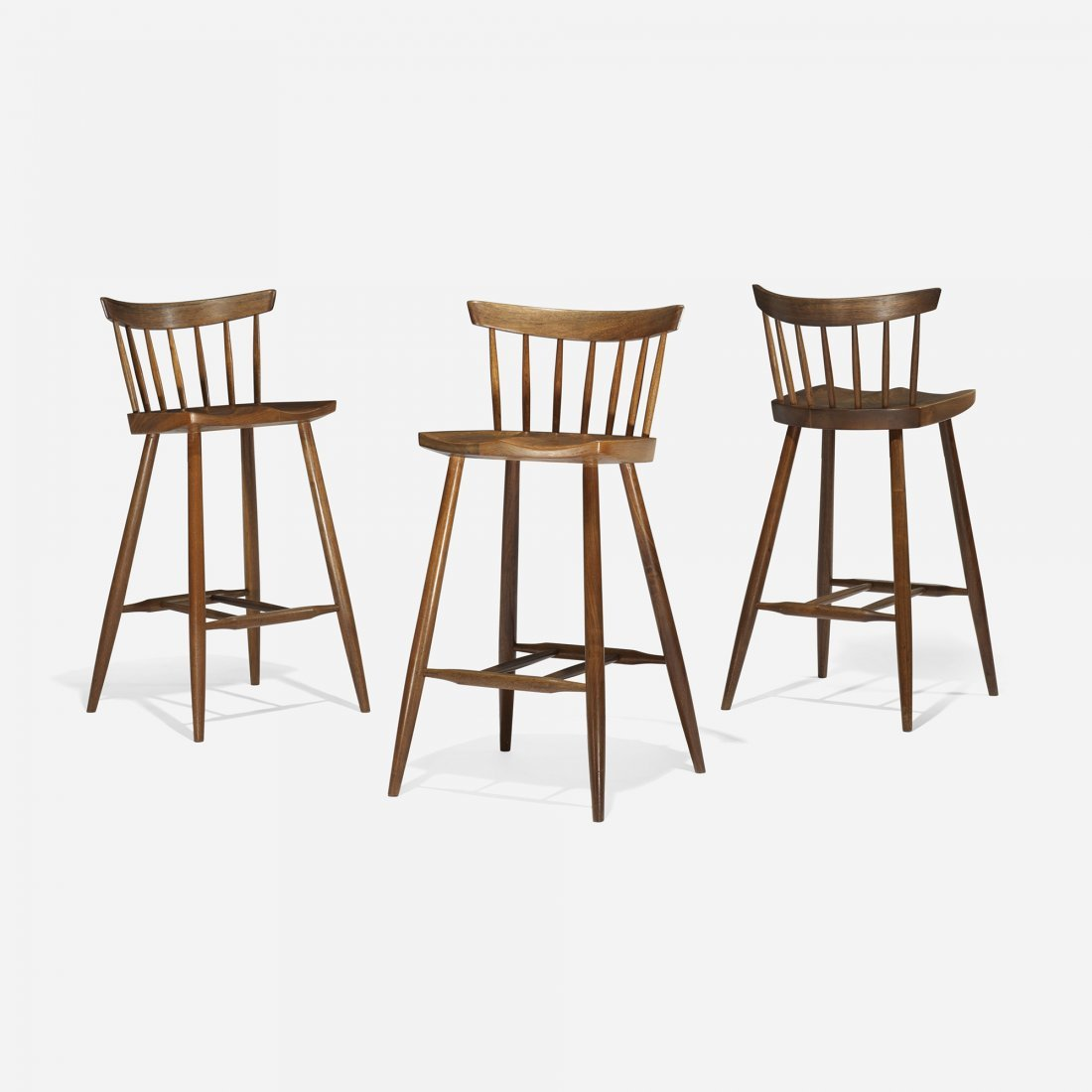 George Nakashima High chairs, set of three