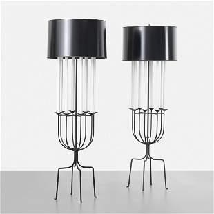Tommi Parzinger floor lamps, pair