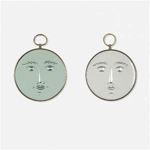 Piero Fornasetti Viso mirrors, pair