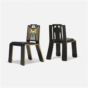 Robert Venturi Sheridan chairs, pair