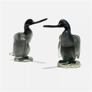 Alfredo Barbini ducks, pair