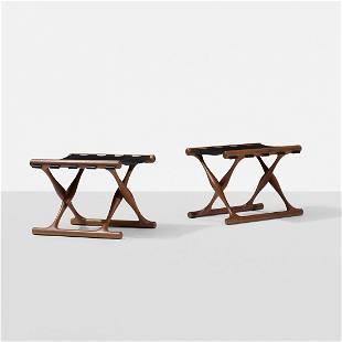 Poul Hundevad Guldhoj folding stools, pair