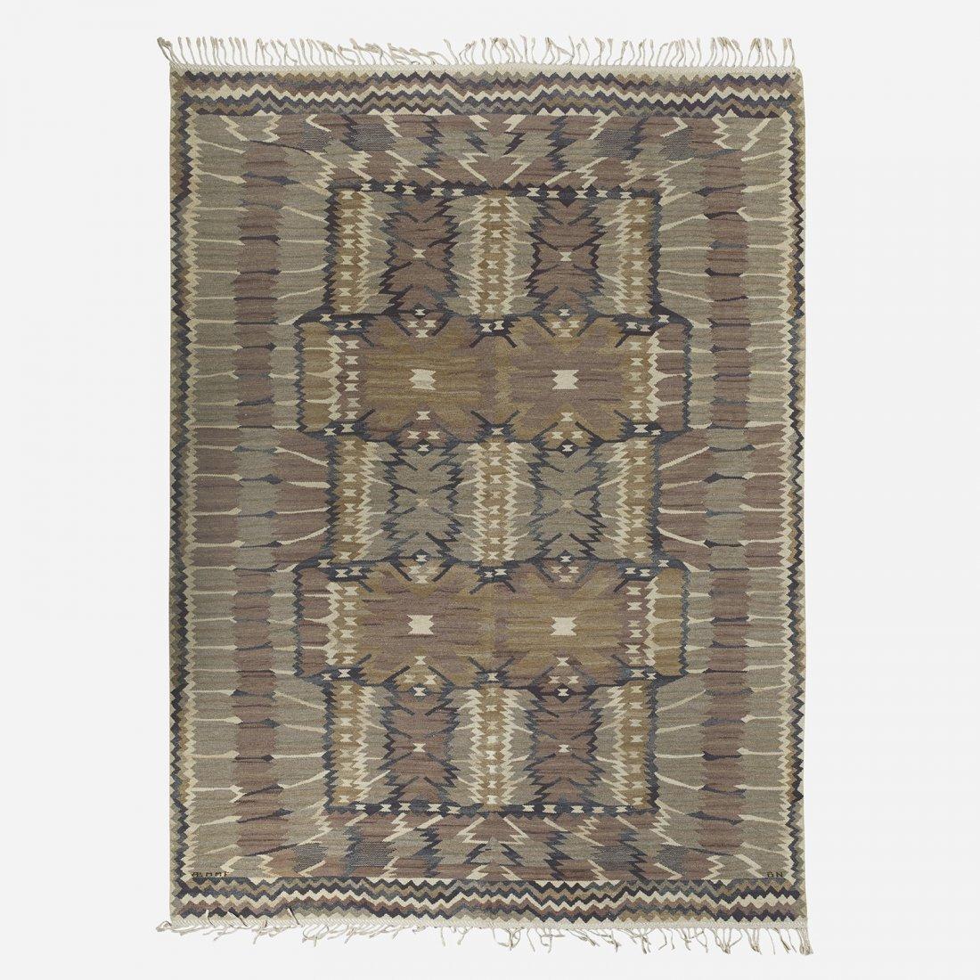 Barbro Nilsson Strålblomman flatweave carpet