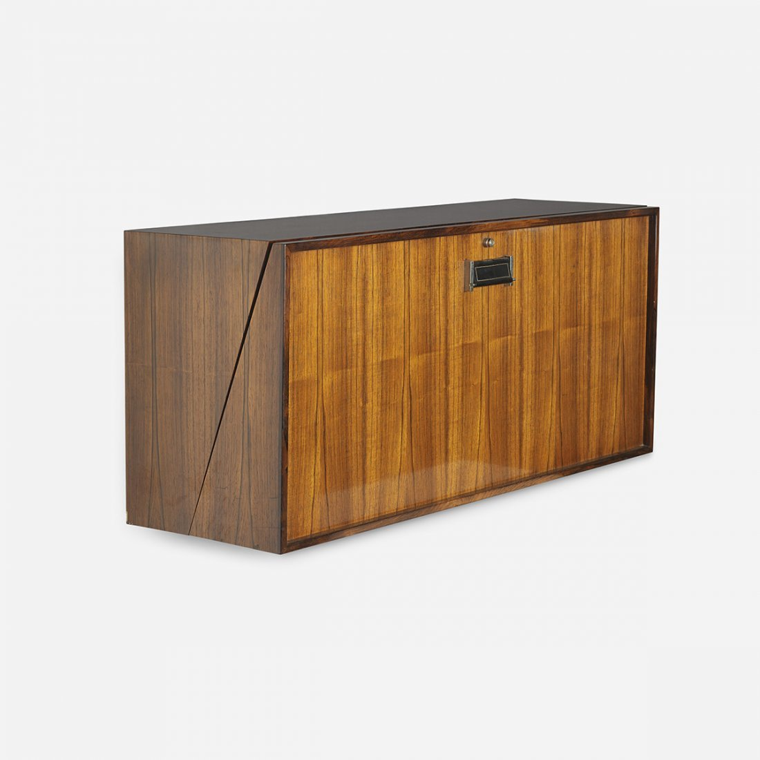 Danish wall-mounted bar cabinet