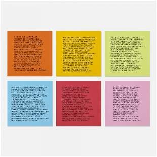 Jenny Holzer Inflammatory Essays (set of ten)
