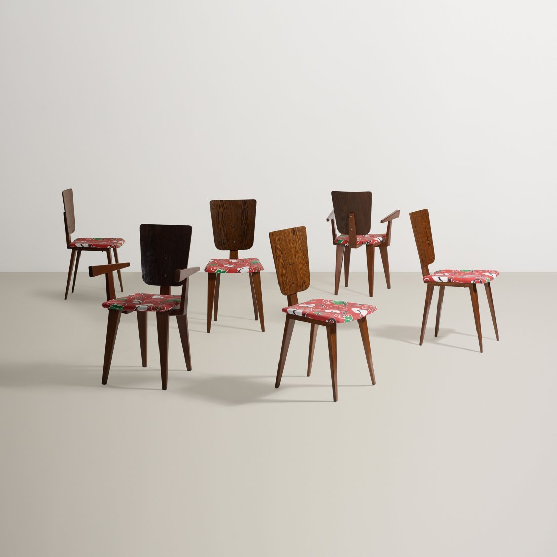 André Sornay dining chairs, set of six