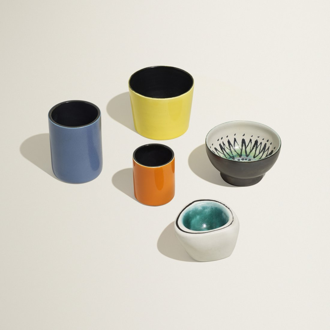 Georges Jouve collection of five vessels