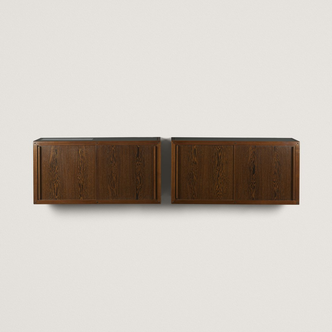 André Sornay wall-mounted cabinets, pair