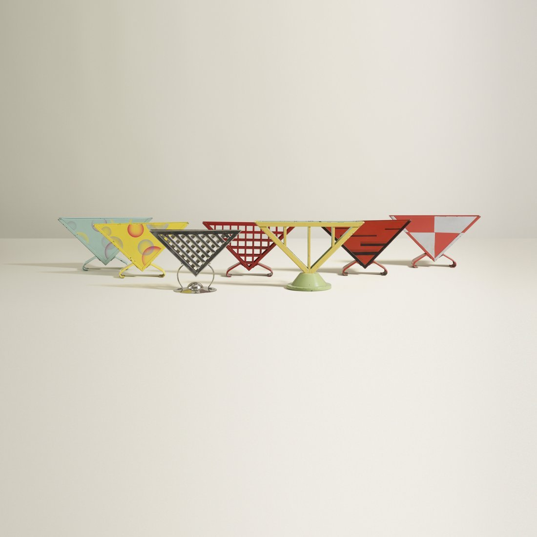 Marianne Brandt napkin holders, collection of seven