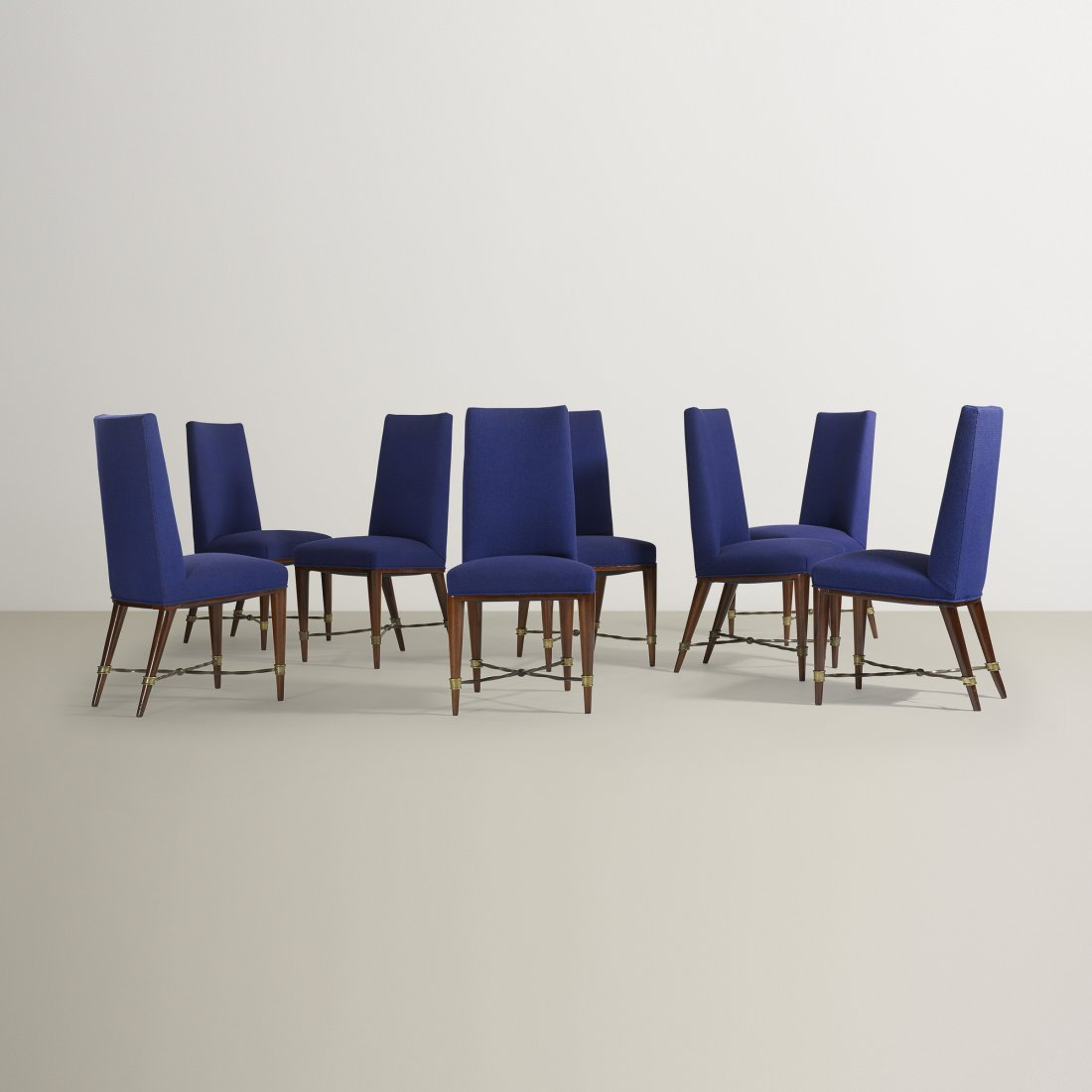 Jean Royère dining chairs, set of eight