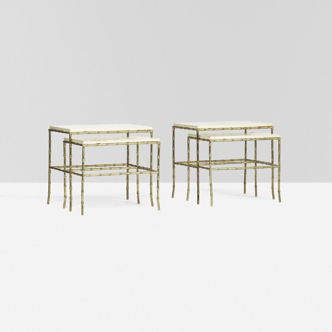 Tommi Parzinger pair of custom nesting tables
