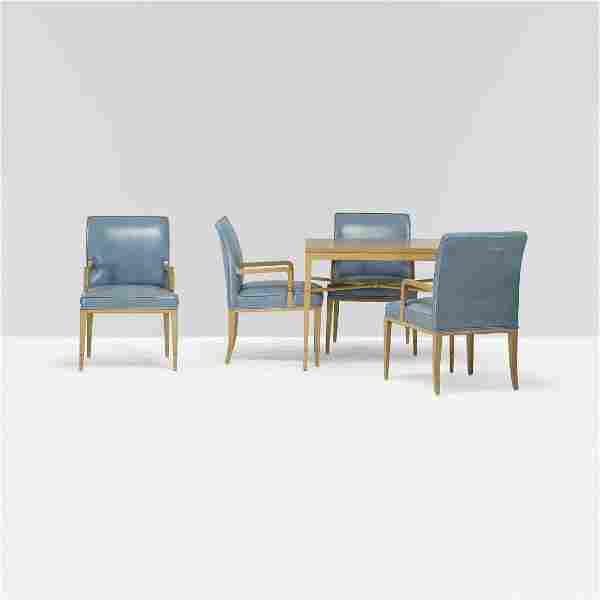 Tommi Parzinger custom table and set of four chairs