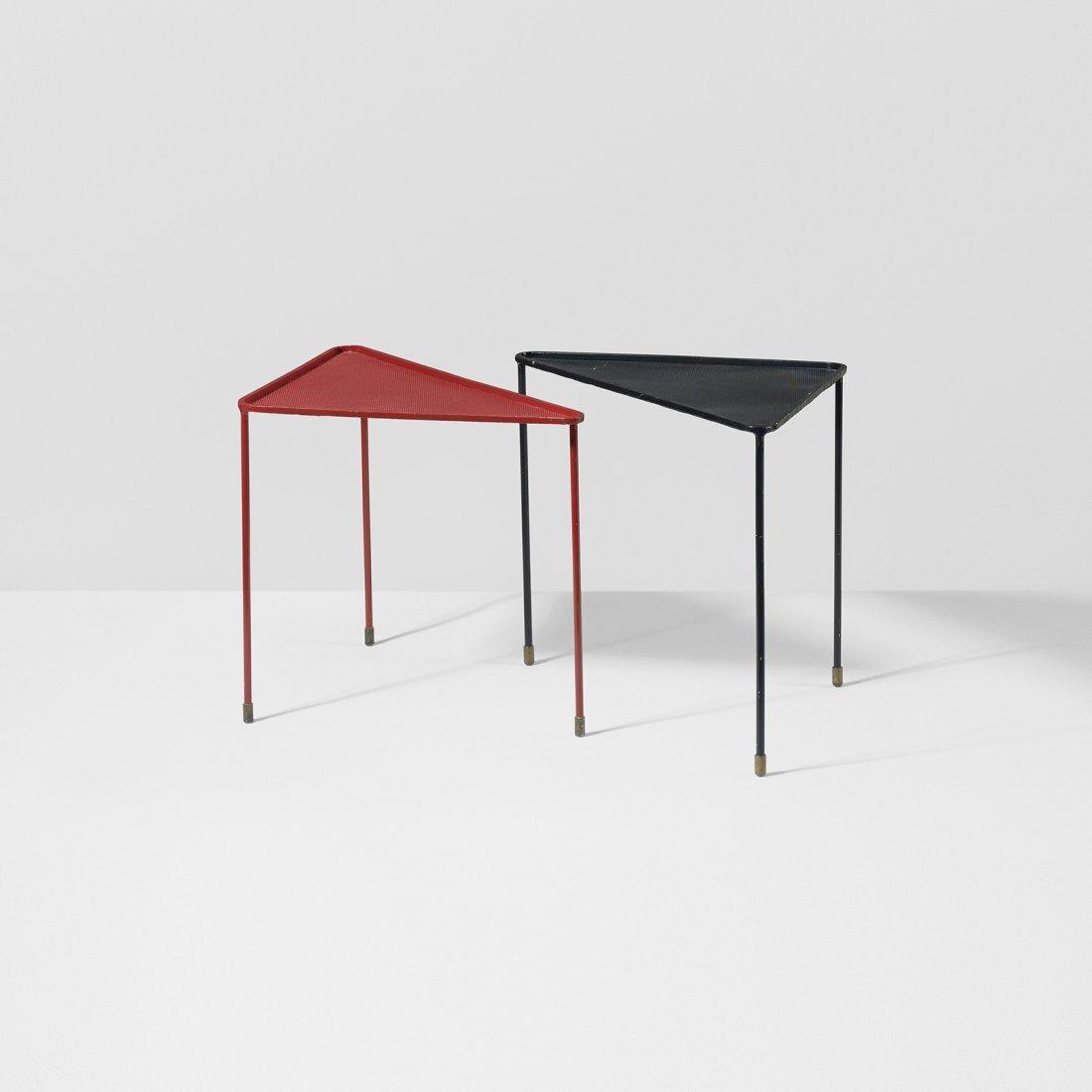 Mathieu Matégot Triangle tables, pair