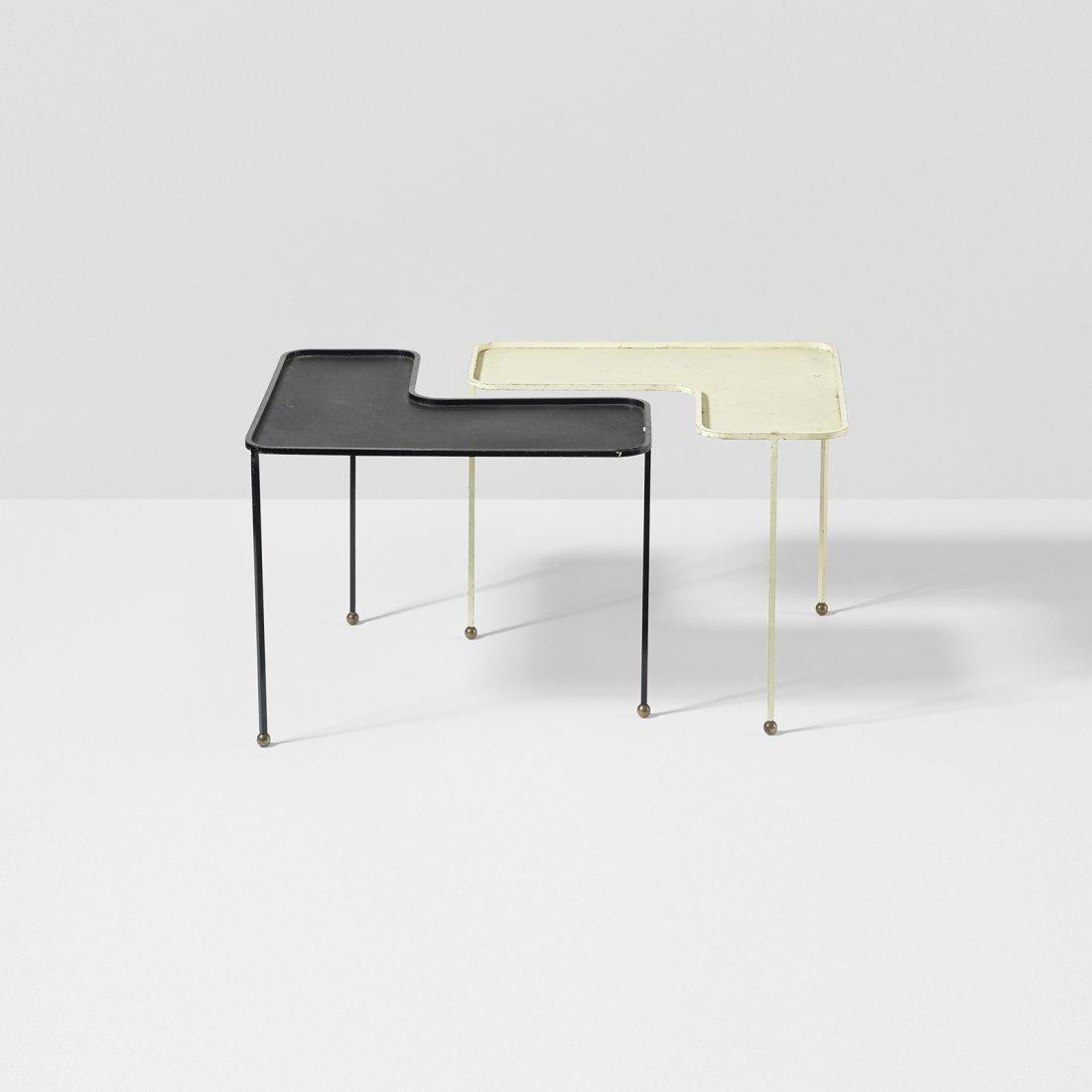 Mathieu Matégot Domino tables, pair