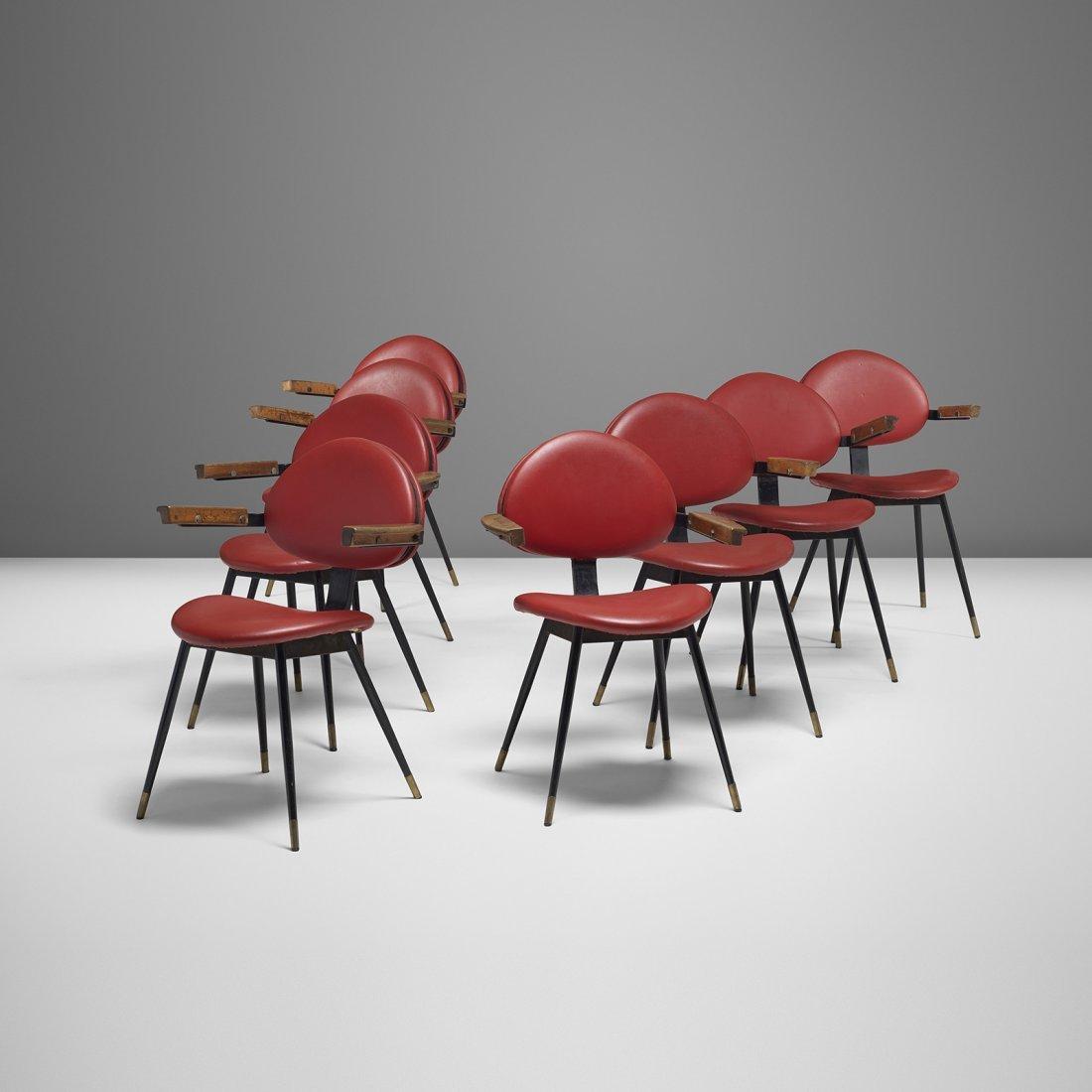 Carlo Mollino set of eight chairs