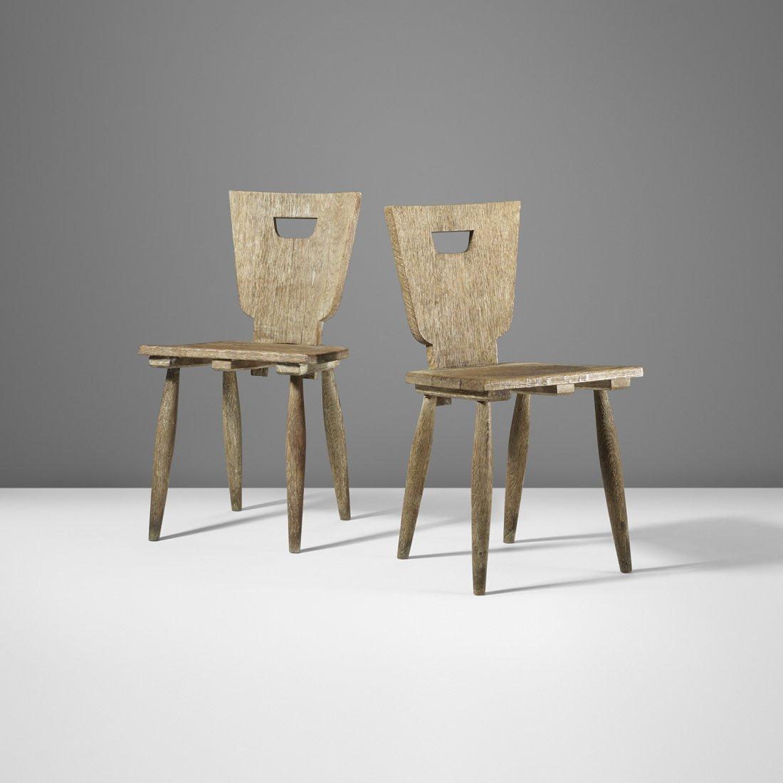 Jean Royère Chaises Rustiques, pair