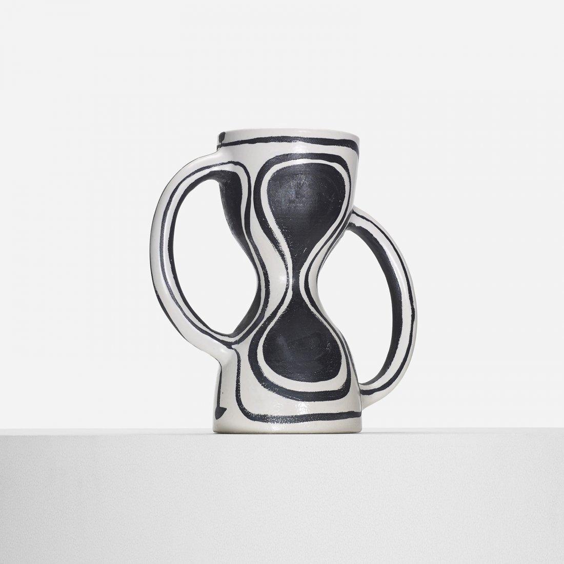 Georges Jouve rare Sablier vase